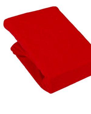 Prześcieradło Jersey – Czerwony