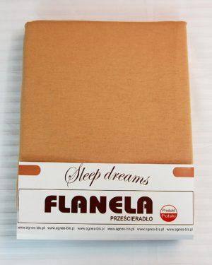 Prześcieradło Flanela – Beż