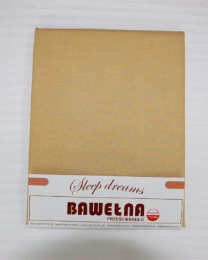 Prześcieradło Bawełna – Beż Ciemny