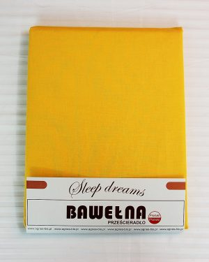 Prześcieradło Bawełna – Żółć