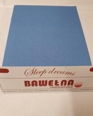 Prześcieradło Bawełna -niebieskie